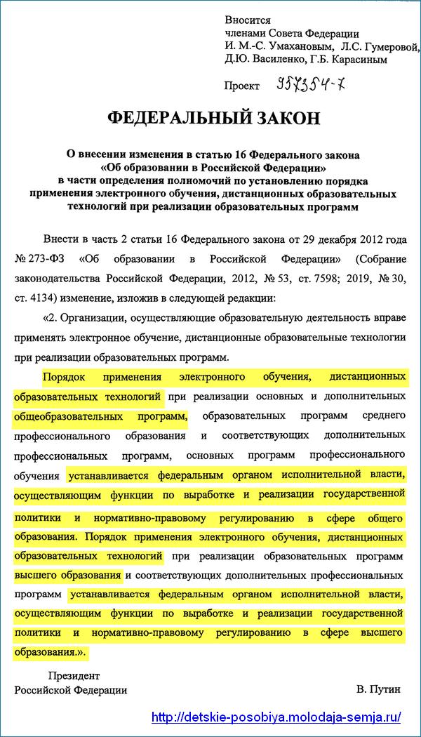 Дистанционное обучение в РФ